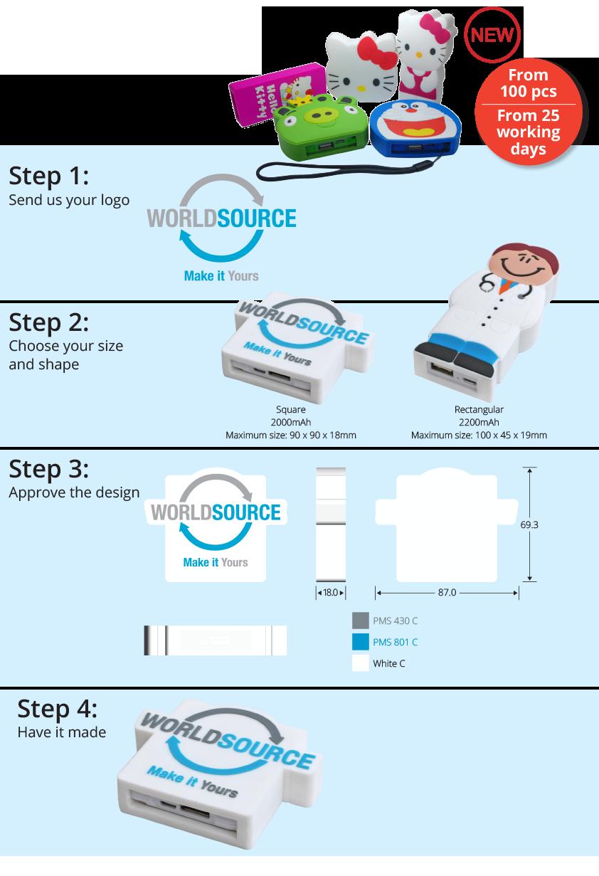 Powerbanks personalizate - acumulatori externi promotionali